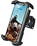 Beemoon Bike Phone Mount - Universal Phone Holder for Motorcycle Handlebars, Scooter, Fits for iPhone 12 11 Pro Max, Samsung S20 S8 and All 4.7' - 6.8' Devices, Black