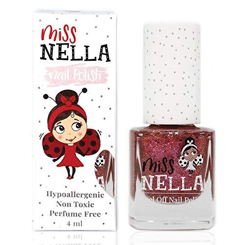 Miss Nella NEU magische Sammlung SHAZAM- Spezieller rot Nagellack mit Glitzer für Kinder,...