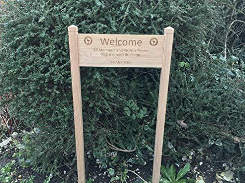 Letrero personalizado de madera de roble con texto en inglés en inglés «Oak House», tallado, grabado a medida, para exteriores, placa de madera