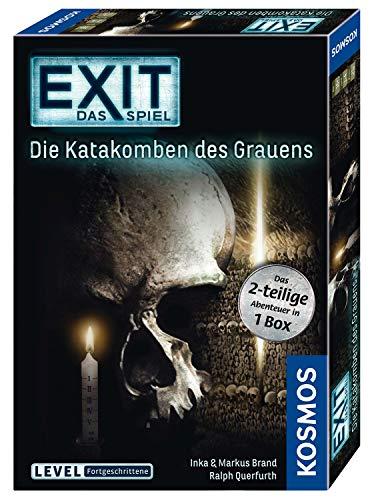 KOSMOS 694289 - EXIT - Das Spiel - Die Katakomben des Grauens - das 2-teilige Abenteuer in 1 Box, Level: Fortgeschrittene, Escape Room Spiel