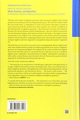 Ideals, Varieties, and Algorithms (Undergraduate Texts in Mathematics)