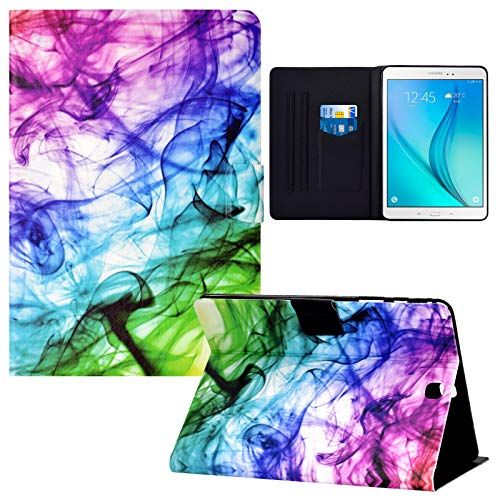 Galaxy Tab A 9.7 inch T550 Case, RASUNE Card Slot Case with Auto Sleep/Wake Feature Multiple Viewing PU Leather Case for Samsung Galaxy Tab A 9.7 Inch 2015 Release SM-T550 /SM-P550 -Smoke Cloud