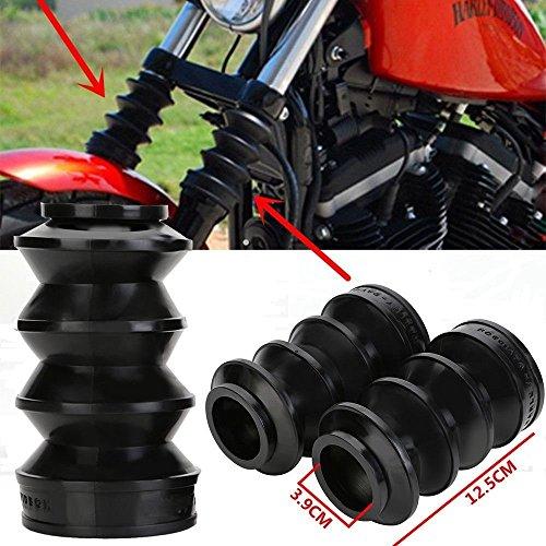 ANAY 39mm Zwart Motorfiets Vork Gaiters Gators Laarzen Motorlaarzen Zwarte Schokschoen Voor Harley FX XL 883