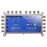 Anadol Zero Watt - Interruttore multiplo senza corrente per due satelliti 9/8 per 8 persone - Distributore Eco SAT - Quattro LNB - Multiswitch digitale - Switch satellitare 4K