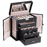 ANWBROAD Caja de joyería con cajones extraíbles para mujer, organizador de joyas grande de diferentes...
