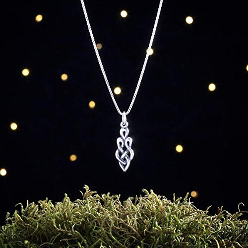 Sterling Silver Celtic Goddess Knot - SMALL - (Charm Only or Necklace)