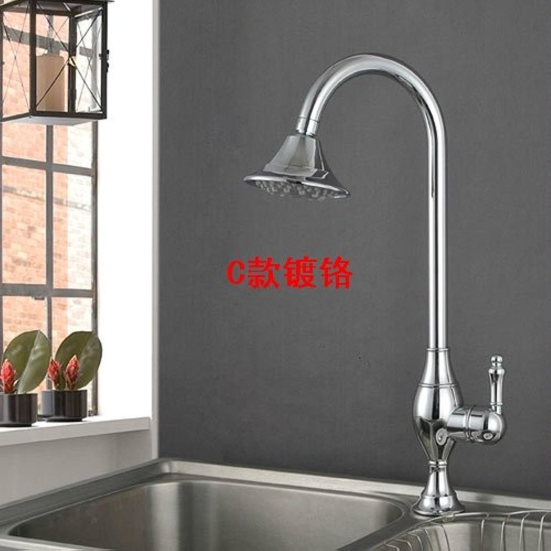 ZYZX Pulldown Küche Armatur Chrom Edelstahl Küche Wasserhahn ziehen Sie Küche-hhne Nickel gebürstet 419 Grad Swive Spüle Wasserhahn