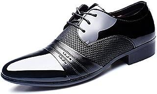 3925643f35b7c0 JOYTO Chaussure Derby Cuir Homme Lacets, Mariage Dressing Oxford Business  Cuir Vernis Été Brogue Vintage
