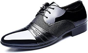Zapatos Oxford Hombre, Cuero Derby Vestir Cordones Calzado Boda Brogue Verano Negocios Moda Uniforme Negro Marron Rojo 38-48