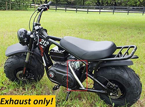 Exhaust Header for: Mega Moto 212cc Gas Powered Mini Bike Pro, Mega Moto MM-B212-MXS