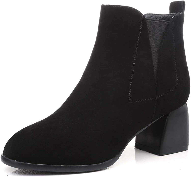 AdeeSu Womens Nubuck Solid Bucket-Style Urethane Boots SXE04526