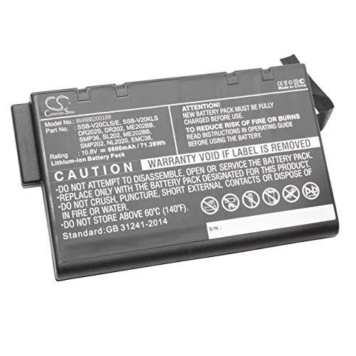 vhbw Akku passend für Getac S400, B300, M230, V100, V1010, V200, X500 Laptop, Notebook (6600mAh, 10.8V, Li-Ion)