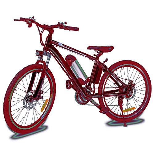Jackbobo Mountain Bike Pieghevole, Bici elettriche da Strada a Sospensione Completa con Freni a Disco, Bici da Mountain Bike per Uomo a velocità di Shock, Bici da MTB a Sospensione Completa