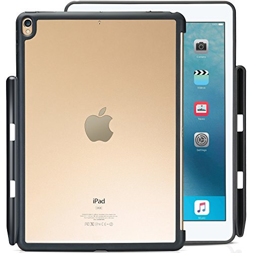 ProCase Carcasa Trasera iPad Air 10,5'/Pro 10.5, Funda Sin Tapa con Portalápiz para iPad Air 3.ª Generación 2019 / iPad Pro 10.5' 2017, Compatible con Apple Smart Keyboard y Smart Cover –Transparente