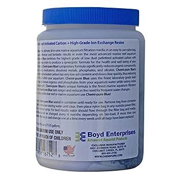 Boyd Entreprises Chemi-Pure Bleu Média de Filtration pour Aquarium, 311,8Gram (Lot DE 2)