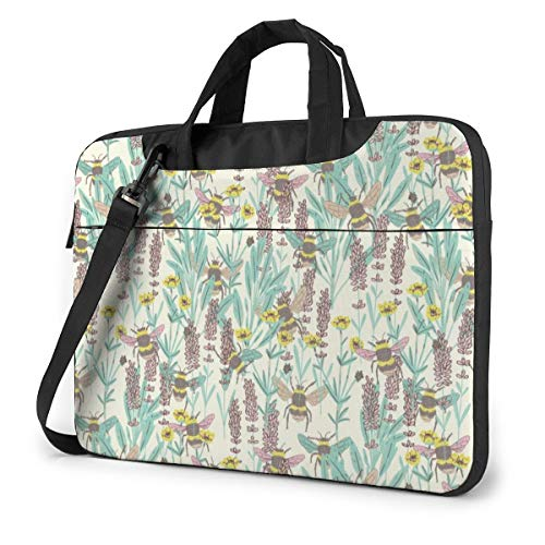 Laptop Case Computer Bag Sleeve Cover Bumble Bee Waterproof Shoulder Briefcase 13 14 15.6 Inch