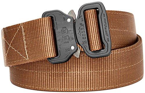 Klik Belts Tactical Belt –2 PLY 1.5' Nylon Heavy Duty Belt Quick Release Cobra Buckle - Unisex