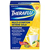 Theraflu Multi-Symptom Severe Cold Hot Liquid Powder Tea Infusions Green Tea and Honey Lemon Flavors...