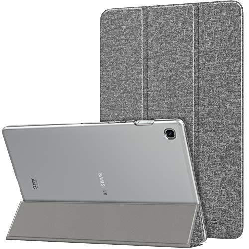 MoKo Hülle Kompatibel für Samsung Galaxy Tab S5e 2019, PU Leder Tasche Schutzhülle mit Transluzent Rücken Deckel Auto Schlaf/Wach Funktion Ideal für Galaxy Tab S5e SM-T720/SM-T725 2019 - Grau