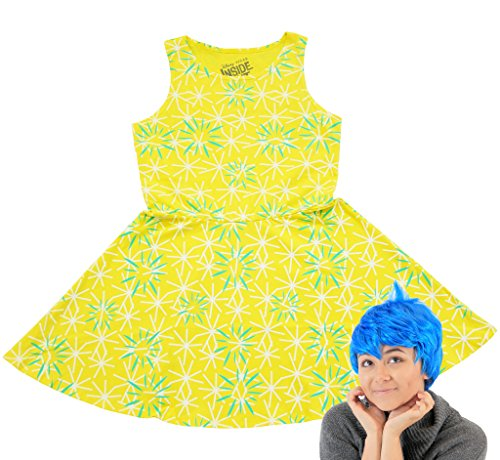 Inside Out Disney Joy - Conjunto de disfraz de patinador (X-Small), color amarillo, azul