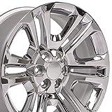 OE Wheels LLC 22 inch Rim Fits GMC Sierra Wheel CV99 22x9 Chrome Wheel Hollander 4741