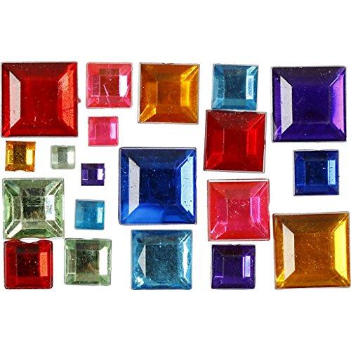 Strass - Mosaïque, taille 4-10 mm, couleurs asstd, mosaïque, 1300asstd