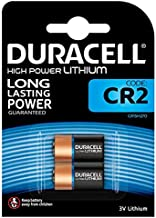 Duracell High Power Lithium CR2 Battery 3 V, (CR15H270) Designed for Use in Sensors, Keyless Locks, Photo Flash and Flashlights, Pack of 2