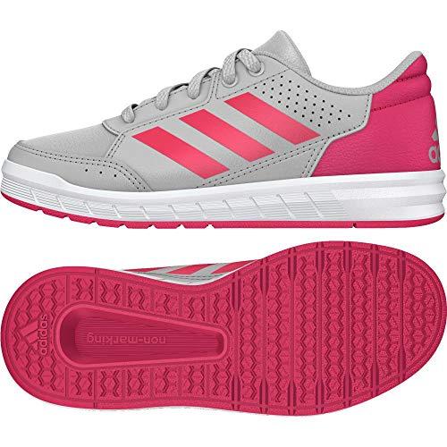 adidas Unisex Kids AltaSport K Gymnastics Shoes, Grey (Grey Two F17/Real Pink S18/Ftwr White Gretwo/Reapnk/Ftwwht), 10.5 UK Child