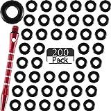 Outus 200 Pezzi Anelli O Frecette Aste Anelli Rondella di Gomma Dardo Anello Antiscivolo Aste di Freccette per Mantenere Stretti Le Aste