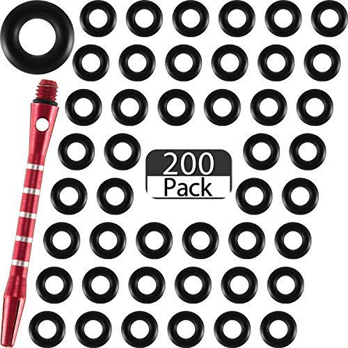 200 Stücke Pfeil Shaft O-Ringe Gummi Dart Unterlegscheiben Ringe Rutschfester Dart Stange Ring um Wellen Dicht Halten