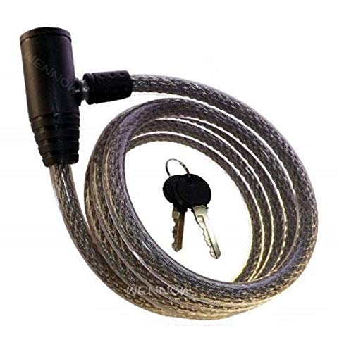wennow bike cables WennoW Silver 72 Inch Heavy Duty Bike Motorcycle Cable Lock