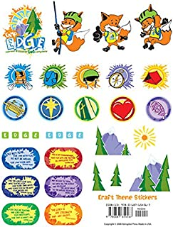 Vacation Bible School 2009 Camp E.D.G.E. Craft Theme Stickers (package of 12 sheets) VBS: Experience & Discover God Everywhere