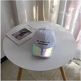 Hats Female Letter Embroidered Baseball Cap Versatile Duck Hat Summer Visor Hat Fashion (Color : White, Size : F/56-59cm)