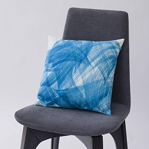 SABABÉ Coussin de décoration Eretz Bleu – Made in France – Lavable en Machine – Dimension 40 cm sur 40 cm Art Judaica Cadeau hanouccah Hanukkah
