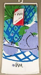 Vera Neumann Ladybug Kitchen Tea Towel, Periwinkle Blue Luau Pineapple Fruit Basket