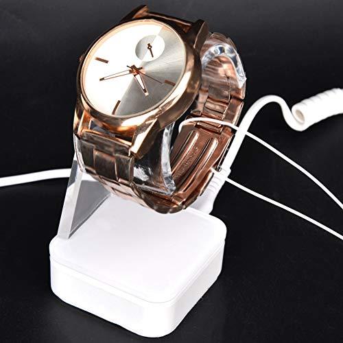 DAUERHAFT Soporte de Reloj antirrobo Cuidado Doble con Luces LED Azules y Rojas Soporte de Reloj antirrobo para Tiendas de Relojes y Amantes de(European regulations)