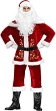 3pcs/Set Christmas Santa Claus Costume with Hat and Belt Cosplay Santa Claus Clothes Fancy Dress in Christmas Men Costume ...