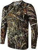 DGHJK Camiseta de Camuflaje, otoño, elástico, Transpirable, de Manga Larga, Traje de Caza de Camuflaje para Deportes al Aire Libre, Chaqueta táctica, Caza, observación de Aves (tamaño: 4XL)