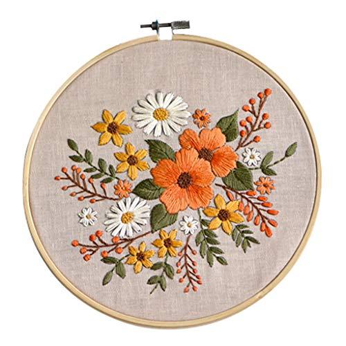 Colcolo DIY Cotton Cross Stitch Printed Flower Home Decoration DIY Kits
