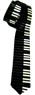 """2"""" Inch Piano Keyboard Necktie - (2 Different Colors"""