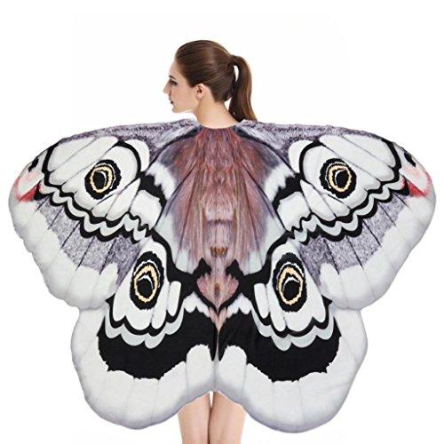 Ailes Papillon Adulte,Yannerr Soft Tissu Papillon Ailes ChâLe Plage Serviette FéE Dames Nymphe Pixie Costume Accessoire (Taille: à propos de 180X145CM, E)