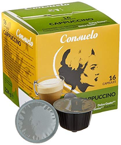 Consuelo Dolce Gusto* Kompatible Kapseln – Cappuccino, 96 Kapseln (16 x 6)