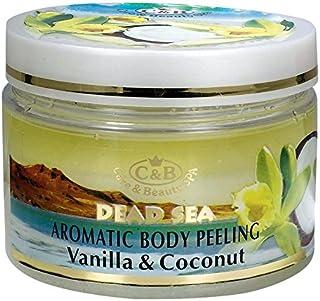 バニラ-ココナッツの香りの全身用剥がし 350mL 死海ミネラル Vanilla - Coconut Aromatic Body Peeling