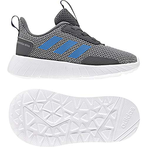 adidas Unisex Baby Questar Drive Sneaker, Grau (Grey Five/Bright Blue/Grey Two), 25 EU
