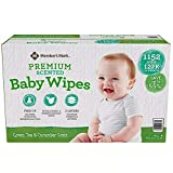 Member's Mark One Box Green Tea & Cucumber Scented Premium Baby Wipes 12-Pack (1152 Total of Wipes)