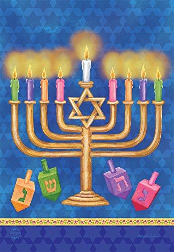 Briarwood Lane Happy Hanukkah House Flag Holiday Menorah 28' x 40'