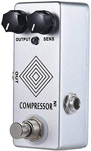 Guitar Effect Pedal LED Indicator, Pedal Metal Compressor, Full Metal Housing, Suitable for Guitar Players, Real Bypass Foot Switch