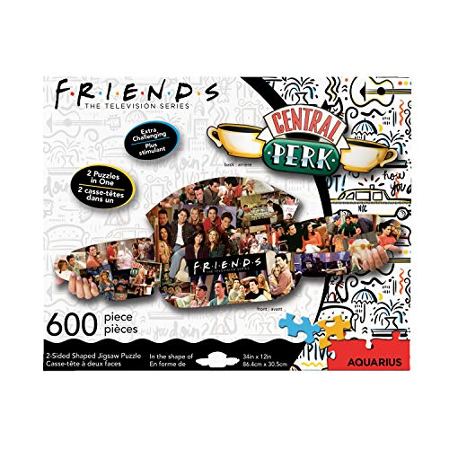 NMR DISTRIBUTION Friends Central Perk & Collage 600 Piece 2 Sided Die Cut Jigsaw Puzzle