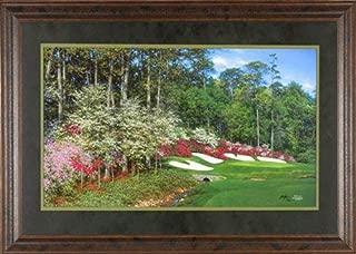 Along Raes Creek Larry Dyke Augusta National Golf Club, Amen Corner Limited Edition 45x28 Gallery Quality Framed Art Print Golf Picture COA