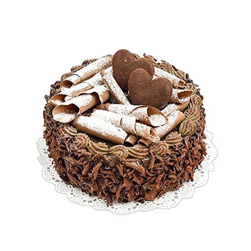 Schokokuchen mit Herz 15 cm Lebensmittelattrappe Fake Food Schokotorte Attrappe